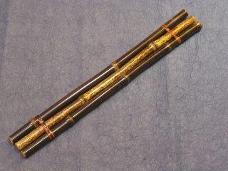 竹製柄杓(ひしゃく)置台 黒竹