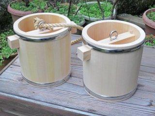 つるべ桶(2個セット)釣瓶(修行・水行)