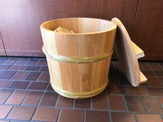 天然さわらの漬物樽(1斗樽)漬物桶 竹タガ
