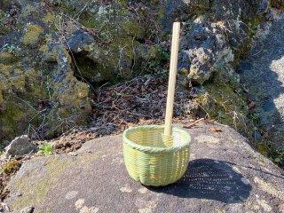 竹製そばうどんふり(味噌こし)柄付