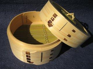 天然桧の中華セイロ(身・蓋セット)18cm