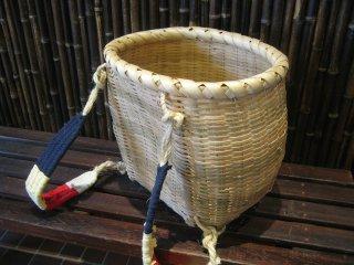 カラ竹背負い篭(豆)