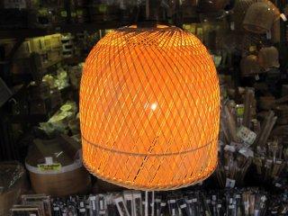 竹製ランプシェイド(木漏れ日)