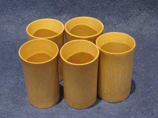 竹製ビアグラス(5個セット)【お買得】