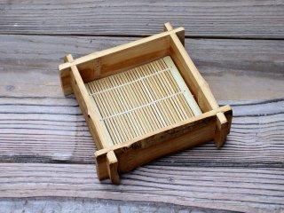 竹製そばセイロ(スス一口深)5枚セット【お買得】