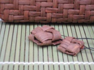 山ぶどうストラップ 石畳(ペアセット)山葡萄
