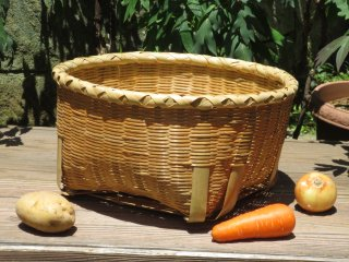 竹製野菜かご(底頑丈)