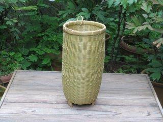 竹製磨き笛かご(足付)祭り・お囃子