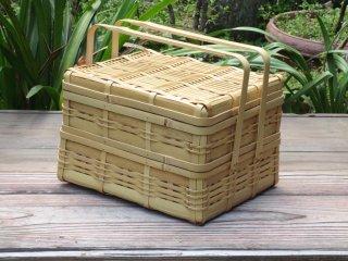晒竹二段弁当箱(白竹)ピクニック