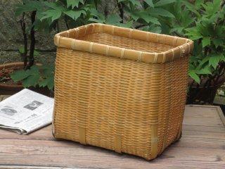竹製磨き新聞かご(新聞ストッカー)【現品限り】