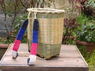 竹製背負い篭(小判)小