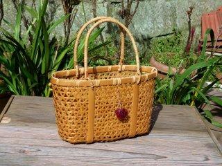 竹製手提げ(麻の葉)かごバッグ