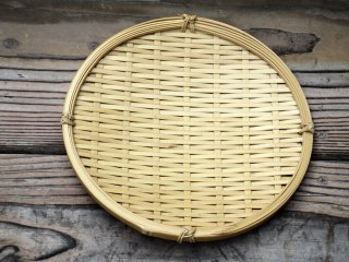 晒竹蕎麦ざる 7寸 21cm 白竹