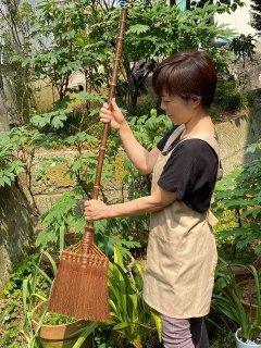棕櫚箒(しゅろほうき)長柄(鬼毛)9玉