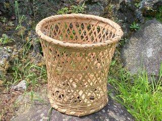 真竹洗濯かご(底上げ)ランドリーバスケット
