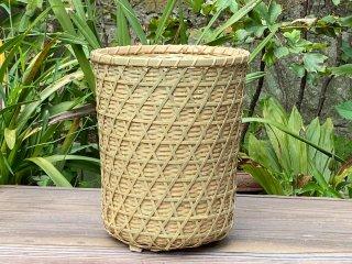 竹製フリーボックス(二重編)外六つ目(くずかご)