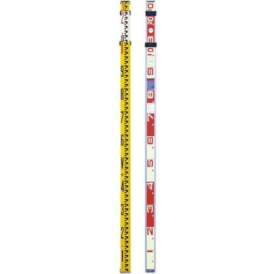 収納サイズ1420mm テープ内臓タイプ SK伸縮式メジャーポール 【高さ計測/車庫の高さ/電線の高さ/天井の高さ/木の高さ】 重さ1.95kg No.202-8 [送料無料] (8m8段継)