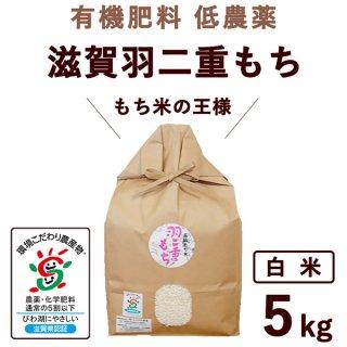 有機肥料低農薬 滋賀羽二重もち 白米 5Kg