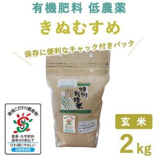 滋賀県産 きぬむすめ玄米2kg