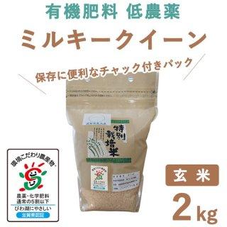 滋賀県産 ミルキークィーン 玄米 2Kg