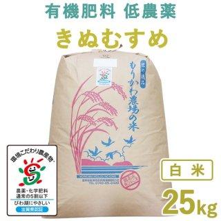 滋賀県産 きぬむすめ白米25kg