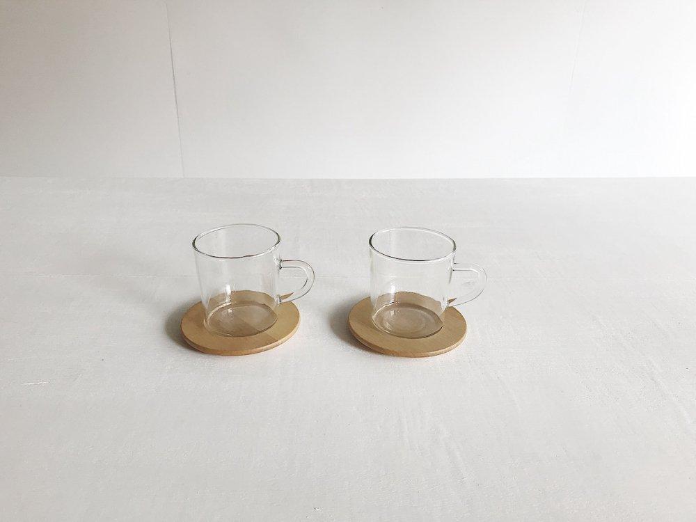 Glass Mug  &  Saucer