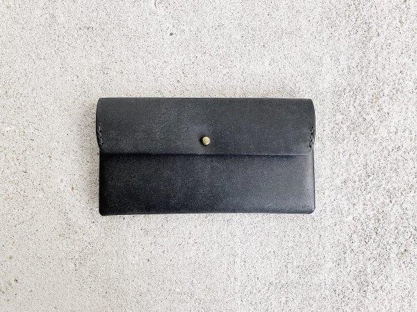 safuji  ミニ長財布(ホック)/  ブラック