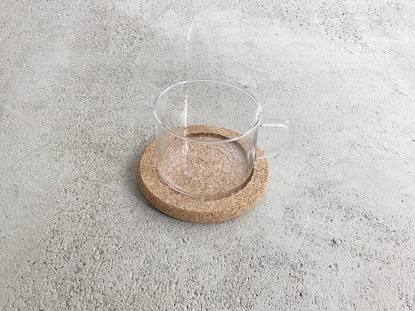 Glass Mug & Saucer ( 1 )  / Boda Nova