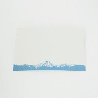 ポストカード 北アルプス・水色