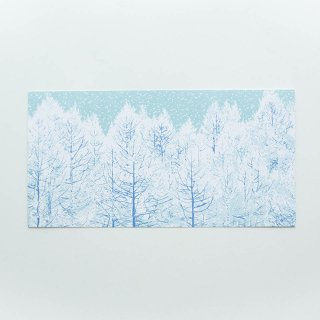 ポストカード(大判ハガキ) snow tree