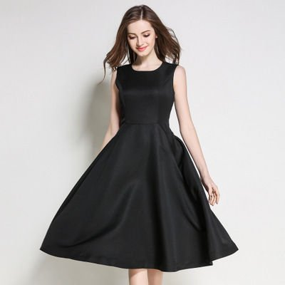 シンプル モノカラー ノースリーブ ミディアム スリム 結婚式 ドレス ワンピース