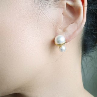 CUP PEARL<br>2<br>-earrings