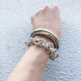 CROSSED RING<br>SV/GD<br>-bracelet