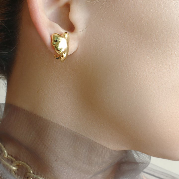 HEART<br>SV/GD<br>-earring
