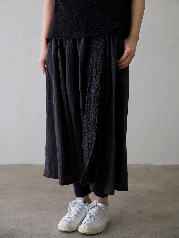 クロスステッチ ラップ風スカート