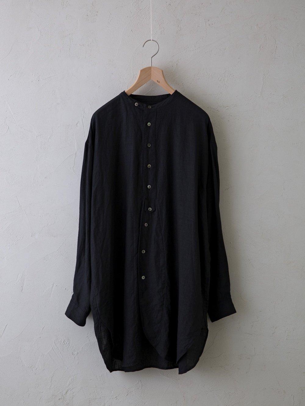 平織リネン チュニックシャツ (Unisex)
