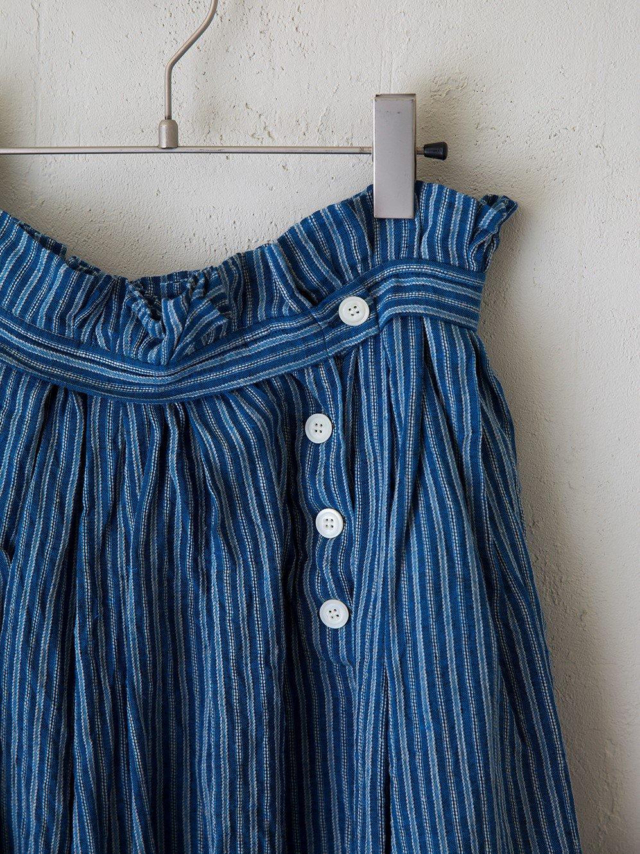 Rain ストライプ タックギャザースカート