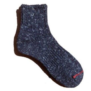 【奈良県産靴下】L型スラブネップ SOCKS TMSO-002 NV(ネイビー)