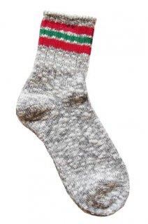 【奈良県産靴下】L型スラブネップ SOCKS TMSO-004 GY(グレー)