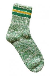 【奈良県産靴下】L型スラブネップ SOCKS TMSO-004 GRN(グリーン)
