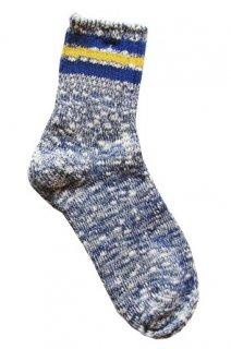 【奈良県産靴下】L型スラブネップ SOCKS TMSO-004 NV(ネイビー)