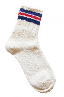 【奈良県産靴下】L型スラブネップ SOCKS TMSO-004 WH(ホワイト)