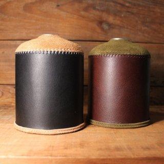 【日本製】オイルレザー &スウェードODガス缶カバー(大:470/500サイズ)