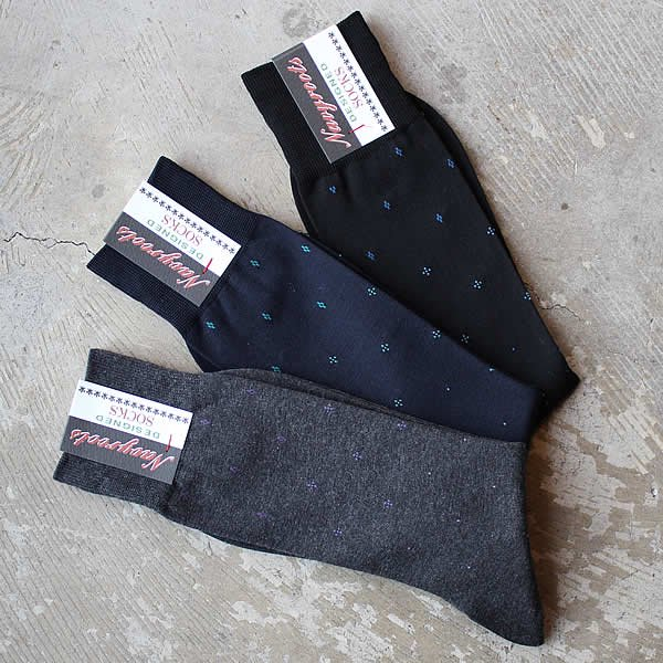 Navy Roots / high gauge sox-c