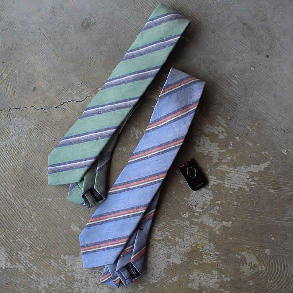 Ascot / Linen×Cotton Tie (レジメンタル)