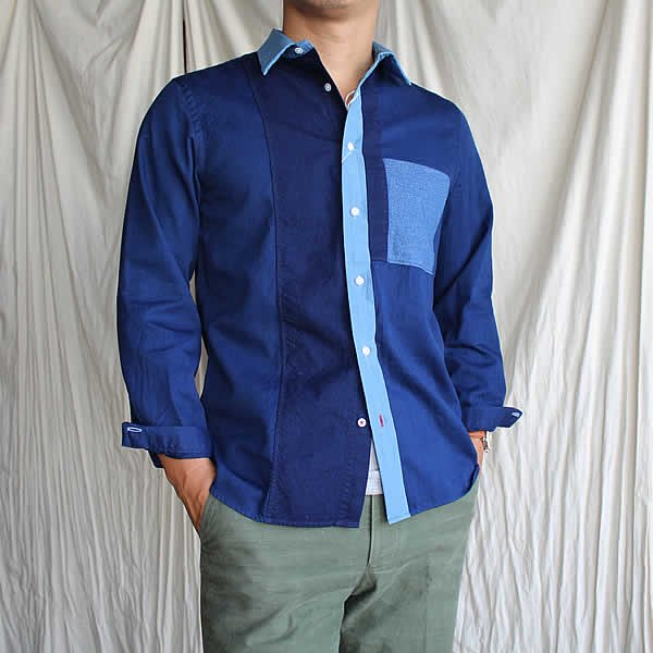 HAND ROOM / GIZA Cotton Short Regular Shirt