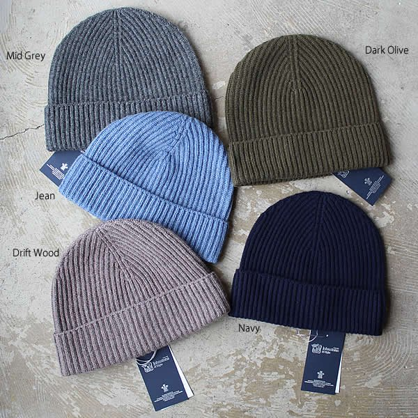 <img class='new_mark_img1' src='https://img.shop-pro.jp/img/new/icons13.gif' style='border:none;display:inline;margin:0px;padding:0px;width:auto;' />Johnstons / CASHMERE RIBBED HAT