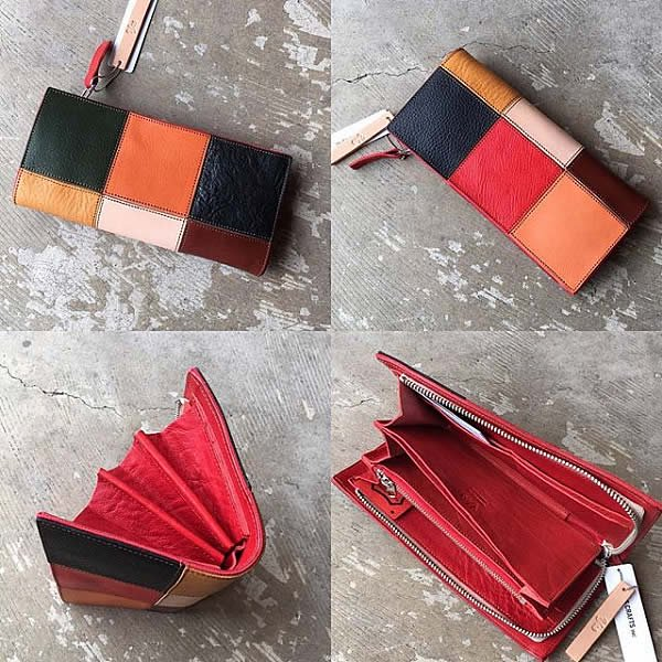 yes / (exclusive color order) SQUARE ROUND WALLET