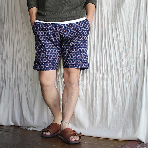 *受注生産*Atelier de vêtements / (exclusive order) easy dress shorts -cotton linen crest print-