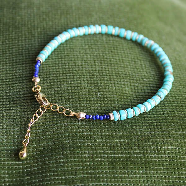 Le temps / Turquoise×14K Gold Filled Bracelet